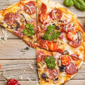 meat feast pizza image